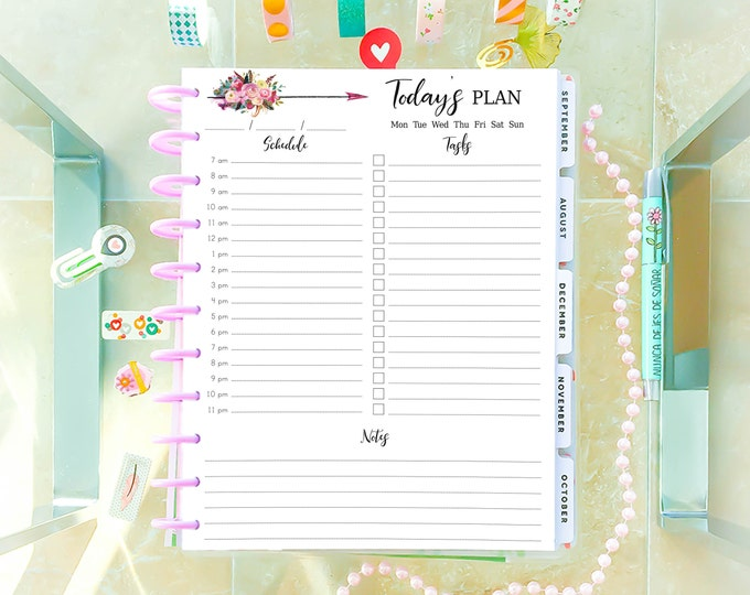 Daily Planner 2020 Made to Fit Big Happy Planner Inserts Printable Daily Schedule
