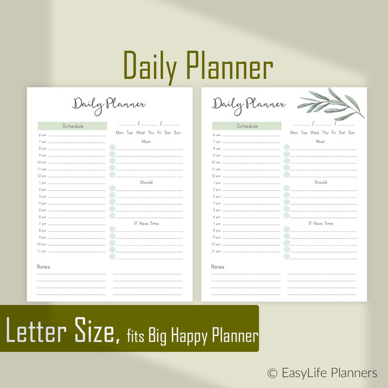 graphic regarding Daily Agenda identified as Everyday Planner Internet pages, Everyday Program, Printable schedule, Letter Sizing Planner, Large delighted planner Inserts.