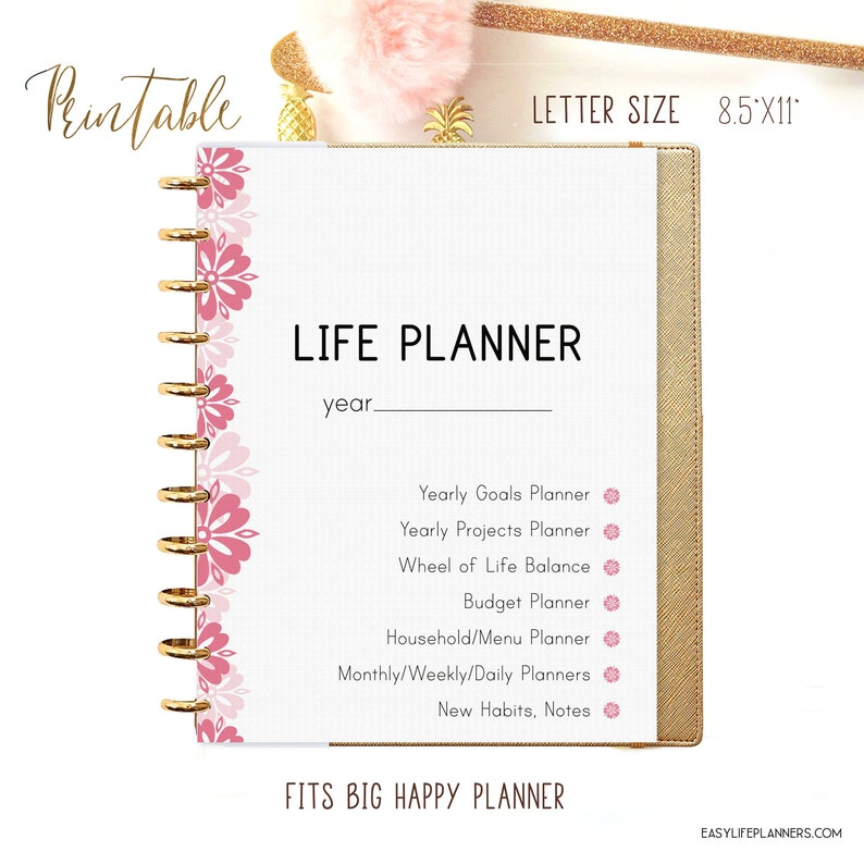 Life Planner 2020 Printable Planner Pages Daily Planner image 0