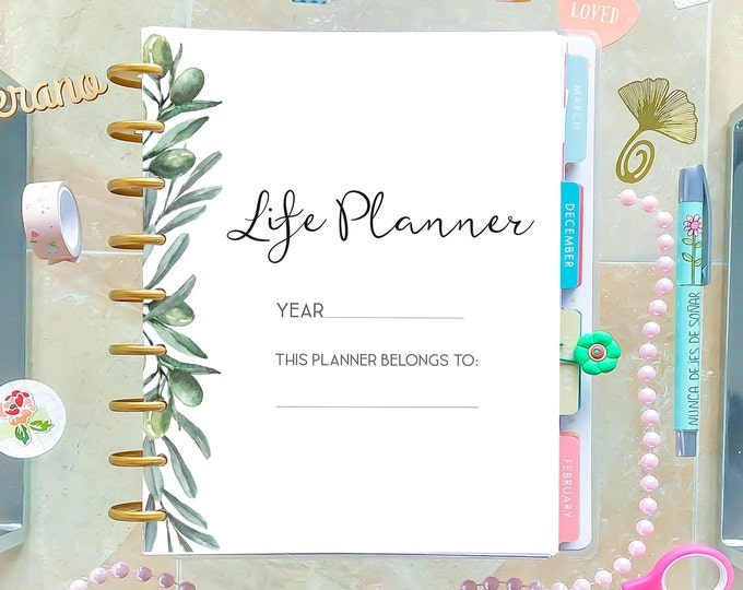 Printable Life Planner Pages for Happy Planner Printable 2021 Daily Planner Pages
