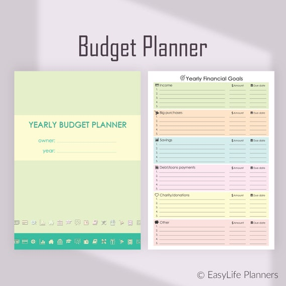 financial planner monthly budget planner a4 binder inserts etsy