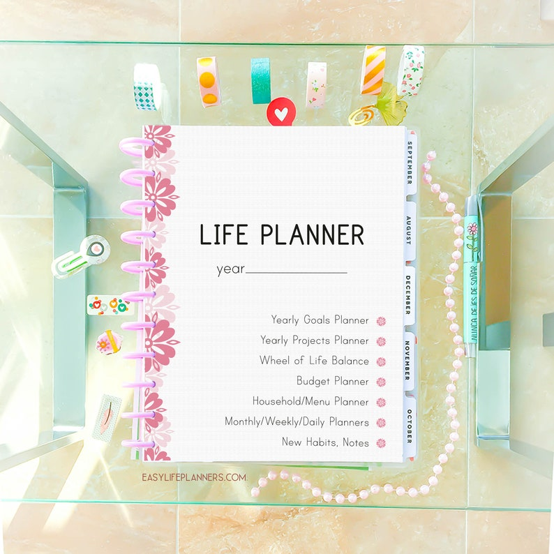 photo regarding Printable Life Planner referred to as Daily life Planner 2020 Printable Planner Internet pages, Day-to-day Planner Inserts, 8.5 x 11
