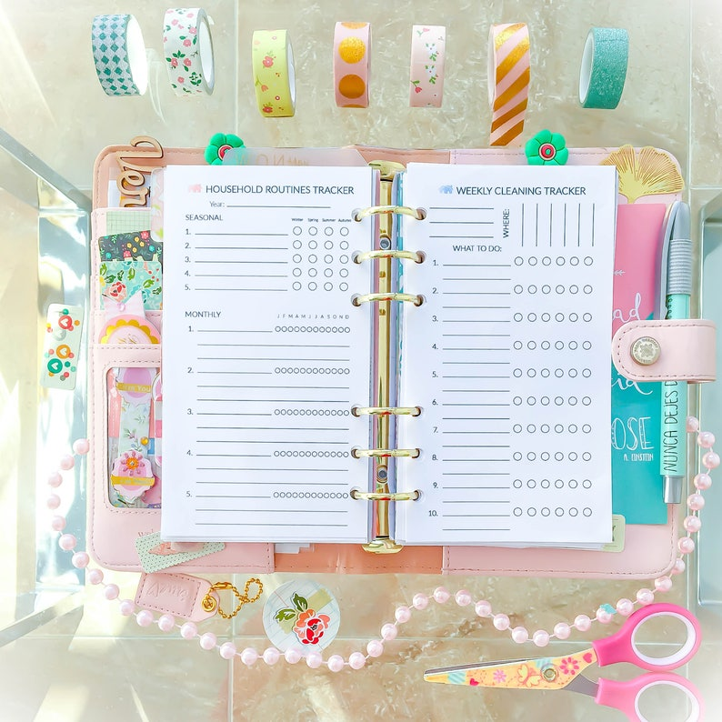 image relating to Diy Planner Organizer named Family members ORGANIZER Specific Sizing. Filofax inserts 3.7x6.7 inches Cleansing Record Routine pdf. Do it yourself Planner home. Quick Obtain.