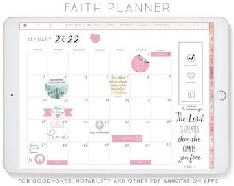 Faith Planner, Sermon Notes, Notability Planner, xodo digital planner, Goodnotes Template, iPad Planner, Devotional planner