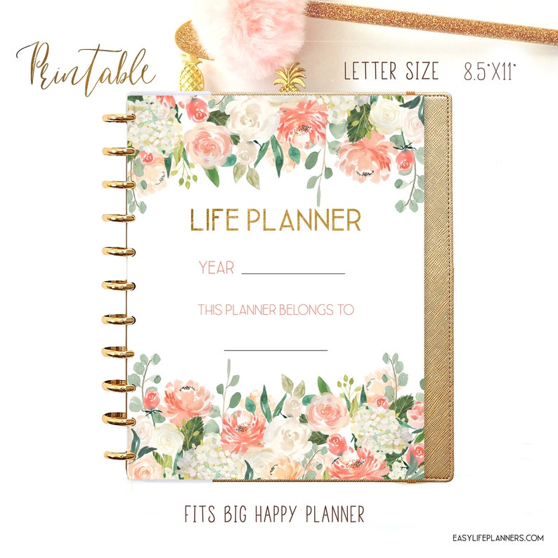 Life Planner 2021 Year Planner Printable Planner Pages 8.5 x image 0
