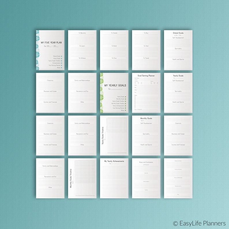 Productivity Planner 2021 Printable A4 Binder Inserts ...