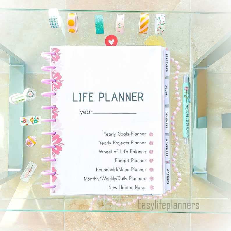 Life Planner 2019 Printable Planner Pages Daily Planner  c867d947bd745