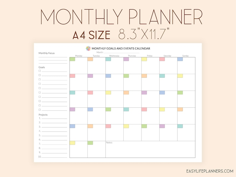 picture about Monthly Organizer named Month to month Planner, Month to month Organizer, Month to month In direction of Do Listing Printable, Binder Inserts