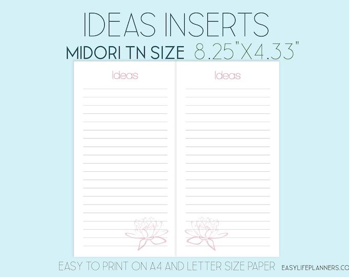 Midori Printable, Midori Insert, Printable Agenda, Ideas Printable