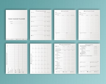Monthly Budget Planner A4 Printable Planner Financial Inserts Yearly Expense Printable Finance Binder Debt Tracker PDF Instant Download