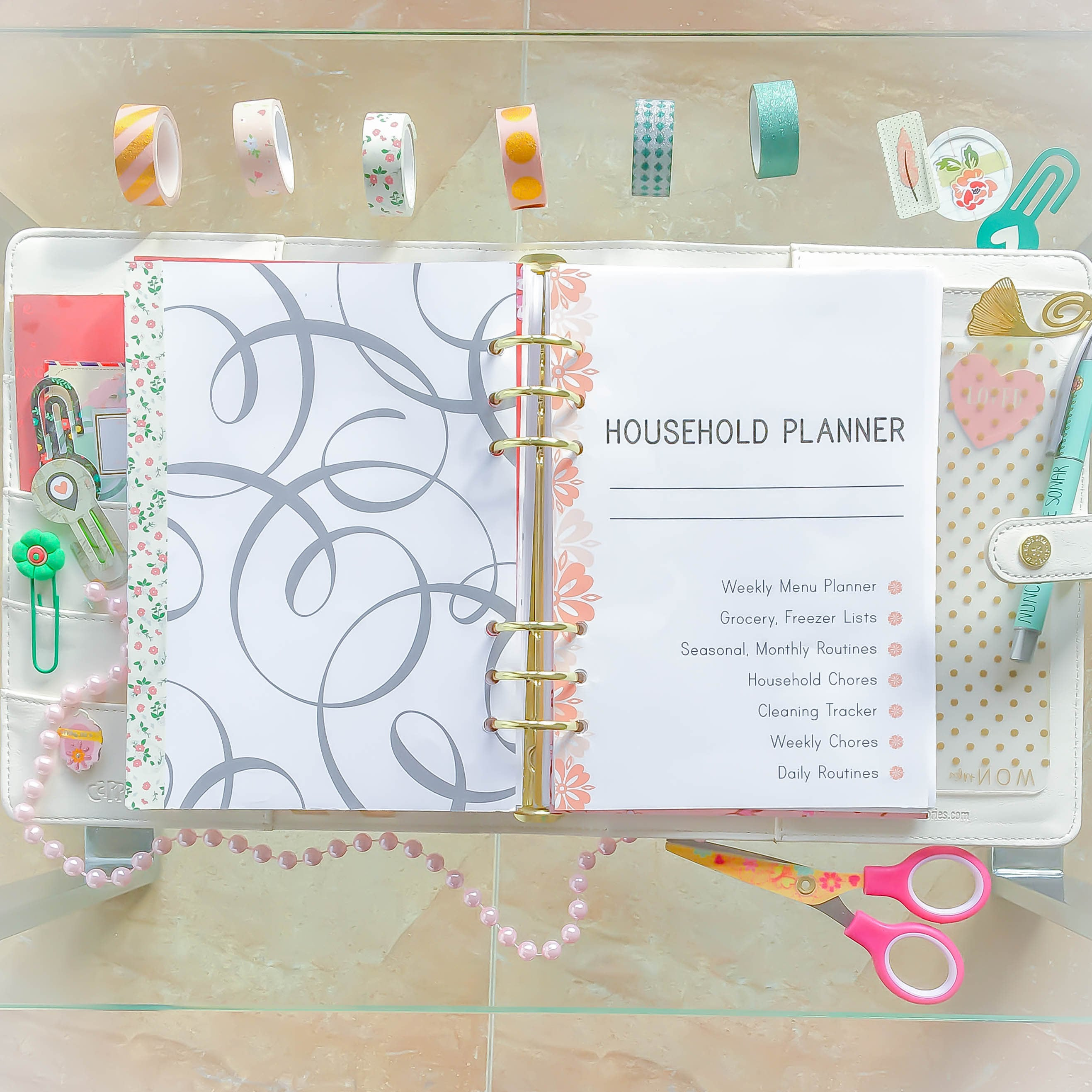 A5 Inserts HOUSEHOLD BINDER Filofax Cleaning Checklist