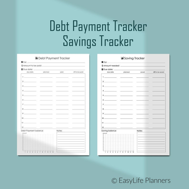 photograph relating to Debt Tracker Printable identified as Discounts Tracker Printable Credit card debt Tracker Planner A4 Economical Planner