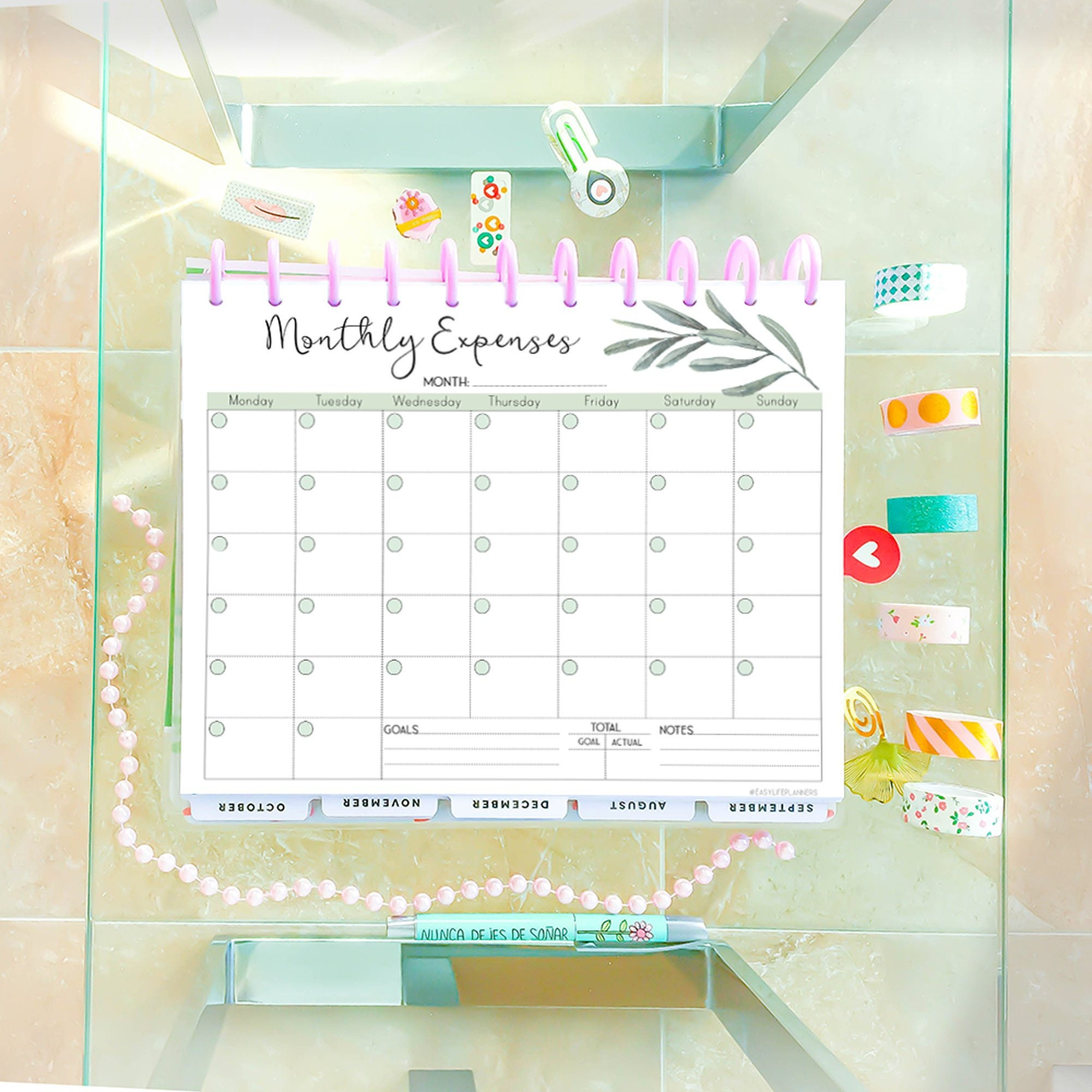 photo about Happy Planner Budget Printable identified as Value Tracker, Regular monthly funds Planner Printable, Finance