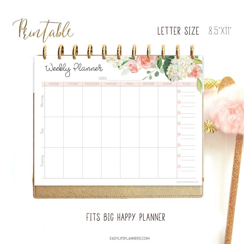 Weekly Agenda Weekly Planner Pages Big Happy Planner image 0