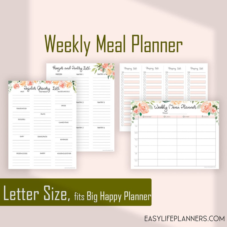 Weekly Meal Planner and Grocery list Menu Planner Shopping image 0