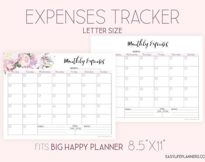 Expense Tracker Printable, Monthly budget Planner, Finance planner.