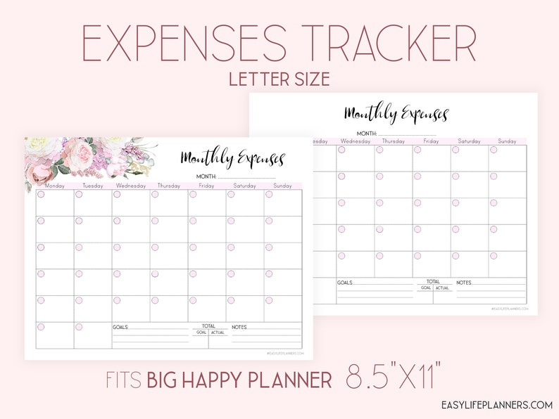 Expense Tracker Printable Monthly budget Planner Finance image 0