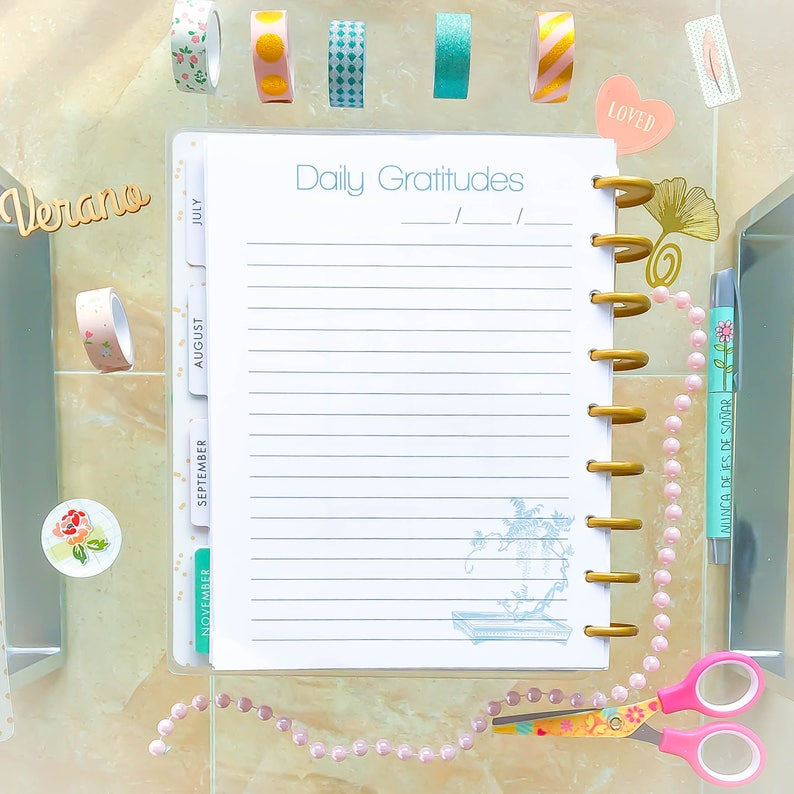image relating to Happy Planner Printable Inserts named Joyful Planner PRINTABLE Inserts 7 x 9 Day by day Graudes Planner Webpages ECLP Inserts Graude magazine Generated Towards Match Erin Condren Planner