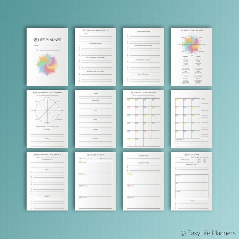 A6 Planner Inserts A6 TN Inserts Life Planner Finance image 0