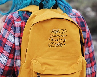 Mustard Woman Rising Backpack Magical Woman Empowered Merch Mama Changing Bag