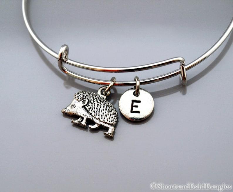 Hedgehog bangle Hedgehog bracelet Hedge hog Porcupine image 0
