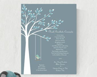 Baptism Gift For Godchild | Printable Christening Gift | Baptism Gift For Boy | Godson Poem  - 40777