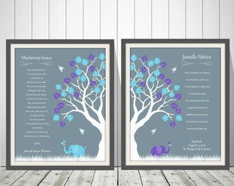 Twins Baby Christening Baptism Gift | Twins Baby Dedication Gift | Twins Christening Gift | Naming Day Gift | Twins Baby Room Nursery -49777