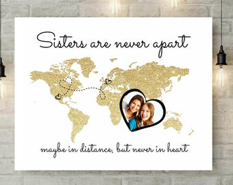 Big Sister | Long Distance Sister Gift | Sister Gift | Sister In Law Gift | Far Away Sister | Sister Map | Gift For Sister - 69677