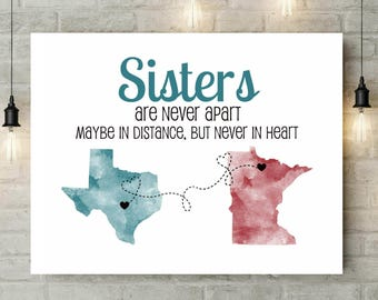 Gift For Sister | Sister Gift Ideas | Long Distance Sister Gift | Far Away Sister | Sister Birthday Gift | Brother Sister Gift - 38477