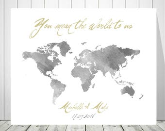 Alternative wedding guest book canvas guest book world map etsy map guest book custom map world map canvas signature map guest book world map art 1st anniversary gift guestbook map 37077 gumiabroncs Choice Image
