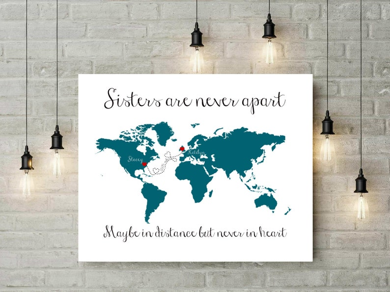 Birthday Gift For Sister In Law Ideas Long Distance Map From To Brother Gifts 54877