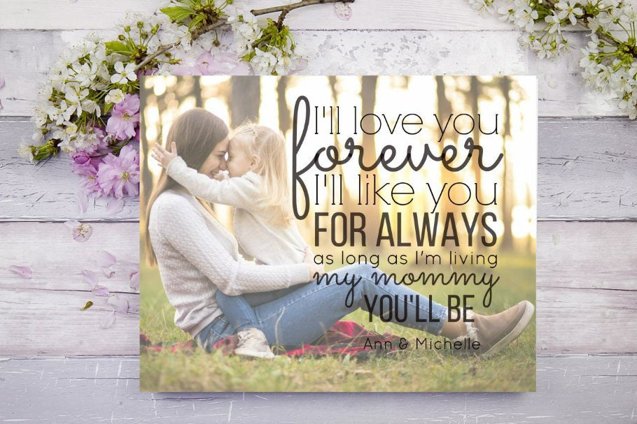 Quote Art For Mom Ill Love You Forever Ill Like You For Always