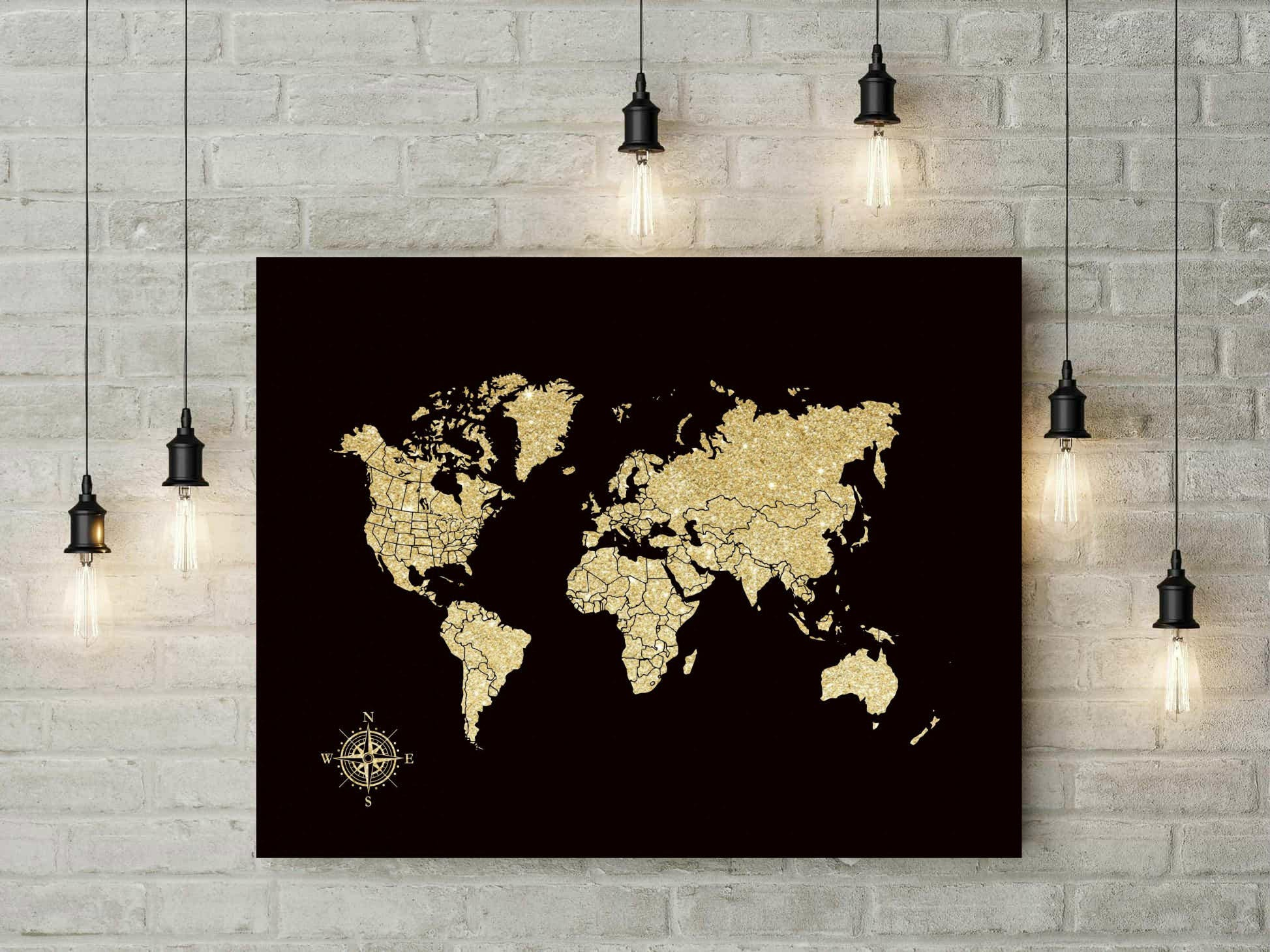 canvas push pin map foam board world map travel world map golden anniversary gift for parents christmas gift wedding gift 37477