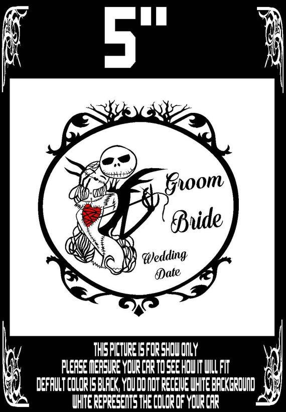 Personnalisé Personnalisé Mariée Et Marié Mariage Anniversaire Date Vinyl Decal Stickers