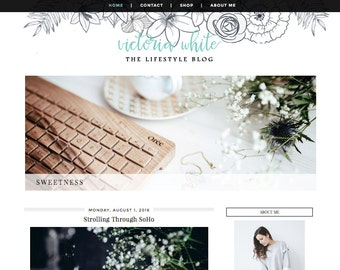 Victoria White Blogger Template
