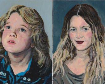 Drew Barrymore Original Oil Paintings