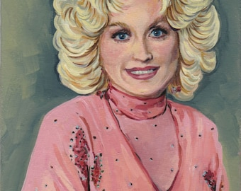 Dolly Parton Limited Edition Post Card Print