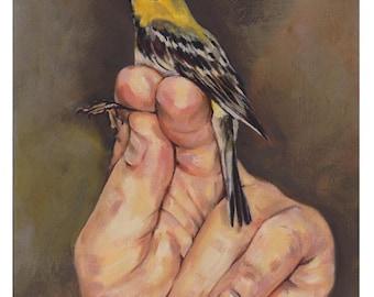 Bird in Hand Art Print