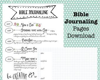 Printable Bible Journal Download, Bible Journaling Journal, Bible Study, Downloadable, Scripture Journal, Download