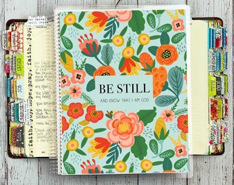 Bible Study Journal / Bible Journaling Notebook / Prayer Journal / Guided Bible Study Binder / Be Still and Know Cover