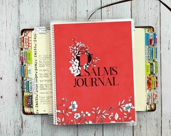Psalms Bible Study Journal - Bible Notes Journal - Psalms Notebook - Prayer Journal - Bible Study Journal - Bible Binder