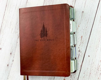 CSB Hosanna Revival Journaling Bible with Tabs, Anchorage Theme, Bible Bundle with Bible Tabs, Bible for Men, Brown Leather Bible