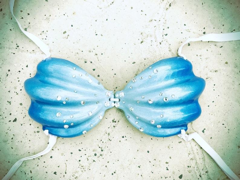 e3fcc8aa8a3dd Blue Mermaid Bra Shell Bra Push Up Mermaid Bra
