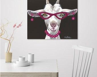 Funny Goat Art, Goat Decor. Goat Art Print, Funny Goat With Glasses,  Whimsical Goat Art, Cute Goat Decor, Bathroom Decor, Cute Home Decor