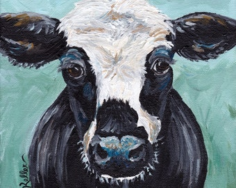 "Cow Print Digital Download, Cow art Instant Download ""Clyde"""