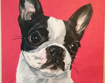 Custom Pet Painting, Custom dog painting, Custom pet portrait