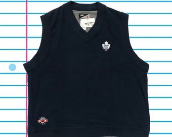 017717350 Vintage 00s Toronto Maple Leafs NWT Pro Player Navy Vest. Size Large