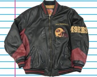 82e6eda2 Nfl leather jacket | Etsy