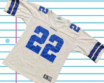0db101943e2 Vintage 90s Emmitt Smith Dallas Cowboys 1995 Starter White Football Jersey.  Size XL