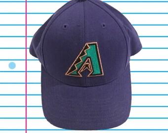 63c106ed8 Vintage 90s Arizona Diamondbacks Logo Athletic MLB Snapback Hat